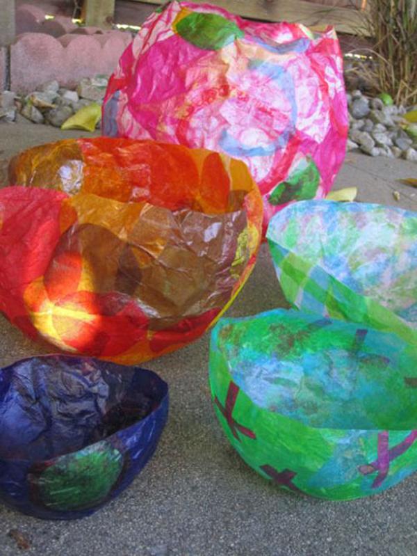Tissue Paper Balloon Bowls