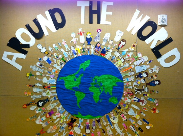Multicultural Classroom Decor ~ Around the world bulletin board meri cherry