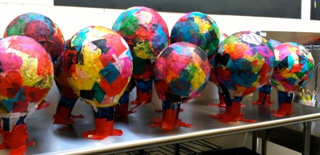 tissue paper paper mache hot air balloons   meri cherry