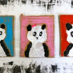Painted Family Panda Portraits