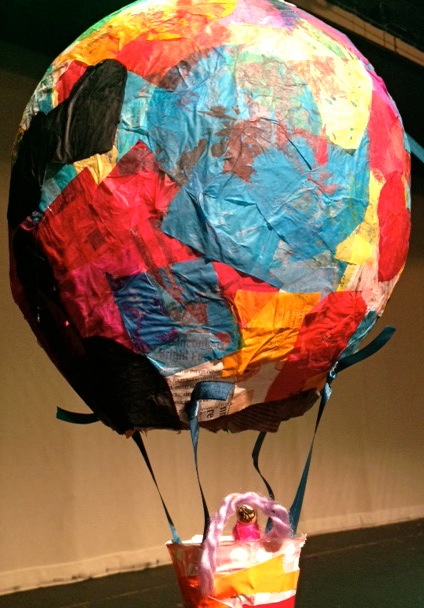 Tissue paper paper mache hot air balloons meri cherry