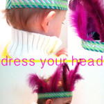 Washi Tape Feather Headdress
