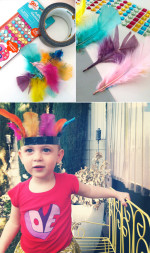 DIY Duct Tape Feather Headdress