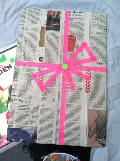 newspaperwashiwrapping
