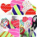 Washi Tape Heart Stickers