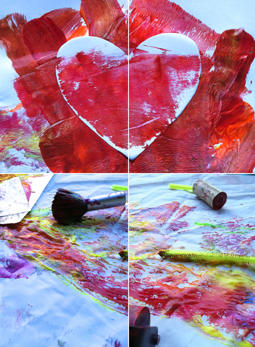 heart painting for toddlers