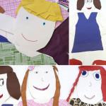 Self Portrait Paper Cutouts