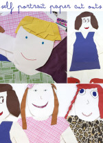Self Portrait Paper Cutouts
