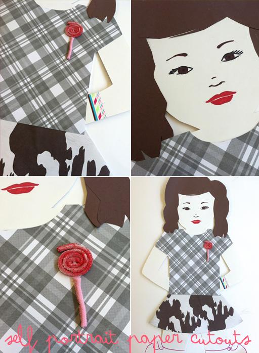 self portrait paper doll cutouts 2nd grade