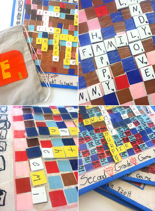 DIY Scrabble Board Second Grade