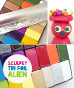 Alien Army Strikes Again – Sculpey Tinfoil Alien Figure