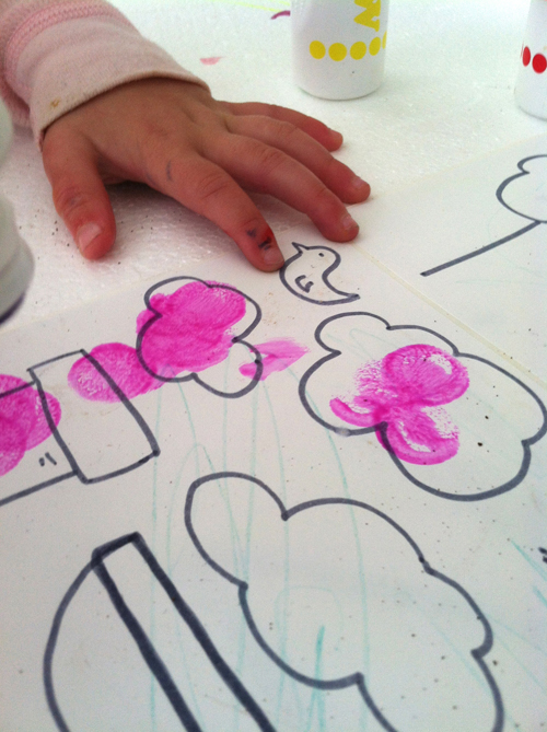 sticker making for toddlers