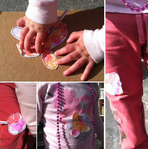sticker making for toddlers and kids