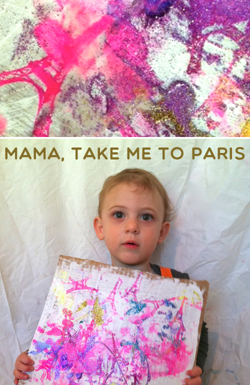 paris stamp toddler art