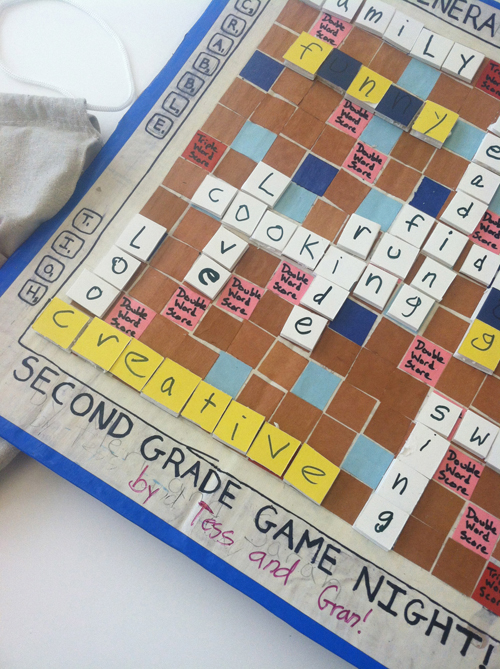 DIY Scrabble Game Board