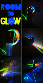 Bath Time with Glow Sticks