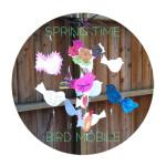 diy springtime bird mobile