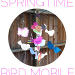 diy springtime bird mobile