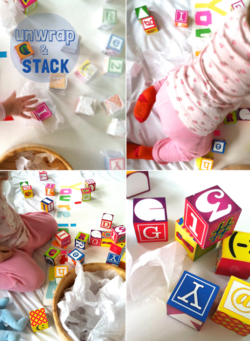 toddlers - invitation to play with blocks
