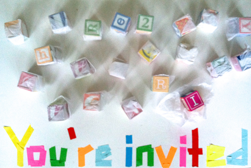 invitation to play for toddlers - blocks