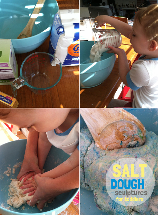 salt dough with toddlers