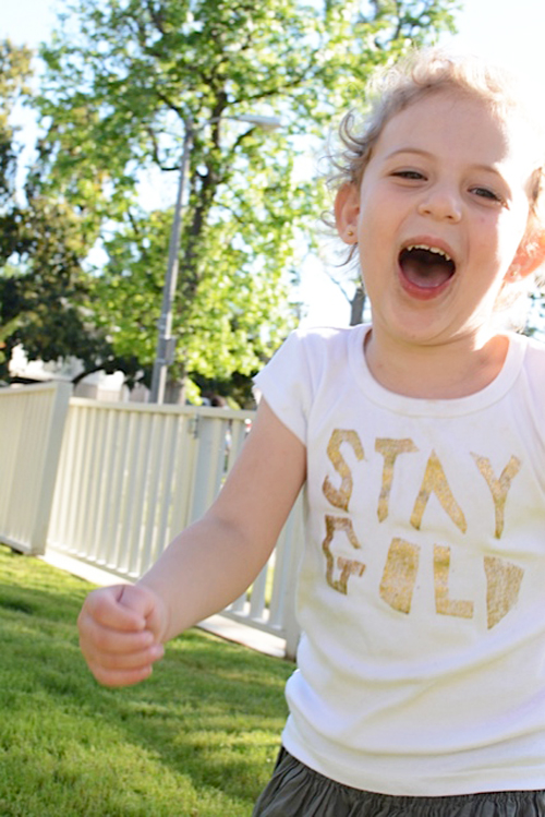 Stay Gold Stenciled T-shirt for Kids