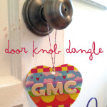 washi tape heart door knob dangle
