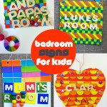 DIY Washi Tape Bedroom Door Signs for Kids