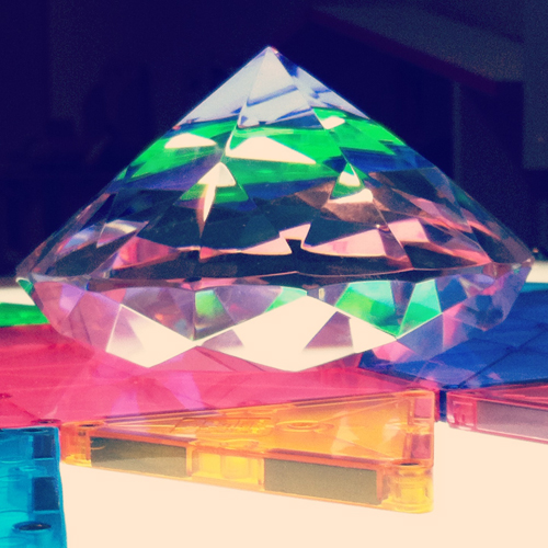 light table for kids with magna tiles and crystals