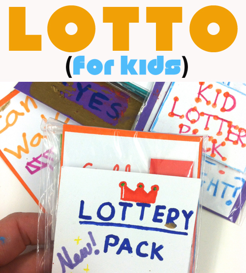 Lottery Tickets for Kids - Awesome Open Ended Project for kids