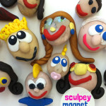 sculpey magnet people