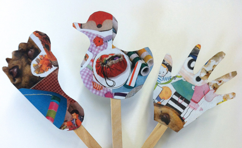 collage story sticks