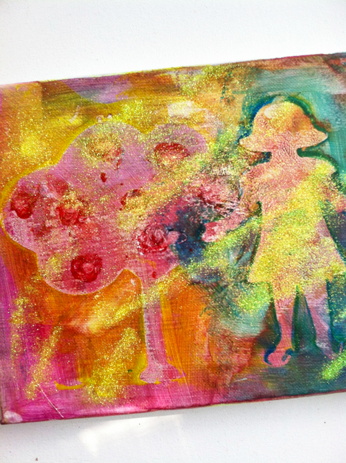 Stencil Canvas Art with Biocolors for Kids