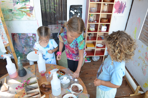Reggio inspired play with clay for toddlers