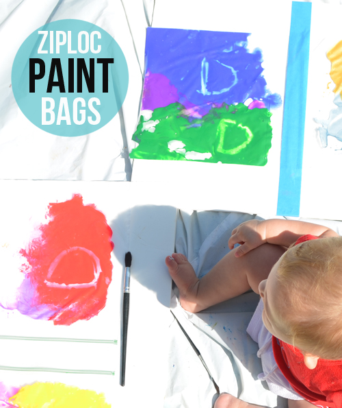 ziploc paint bags for babies, toddlers and kids