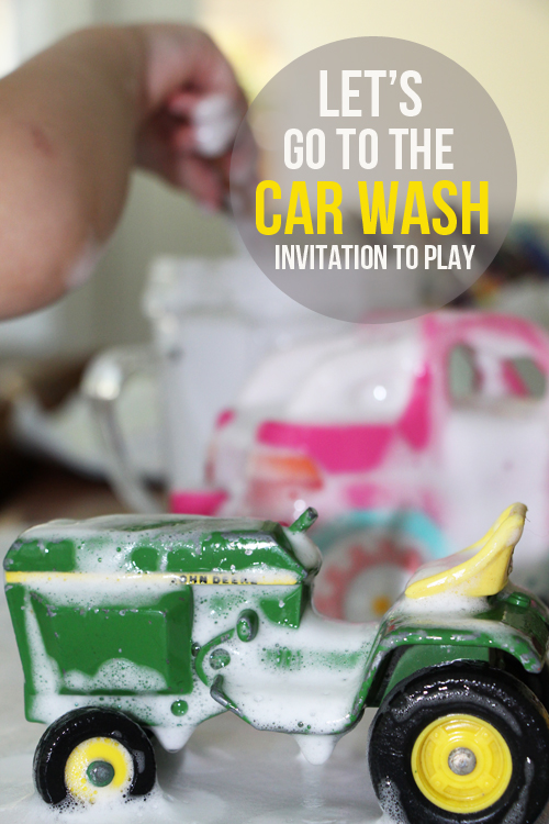 Car Wash - Invitation to Play for toddlers and little ones
