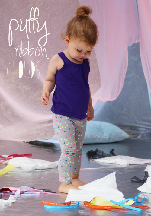 Pretty Puffy Ribbon Clouds  – Sensory Bags for Little Ones