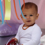 pretty puffy ribbon clouds - ziploc bags, shaving cream, duct tape and ribbons - great sensory activity for babies and toddlers