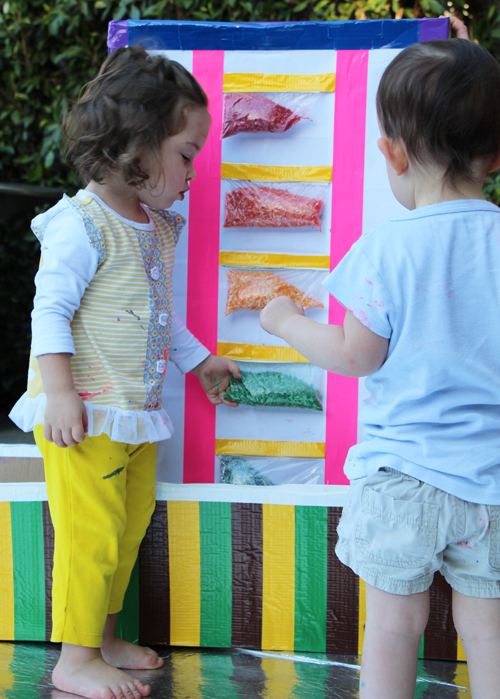 Sensory Rice Box for Toddlers and Babies - What to do with a cardboard box