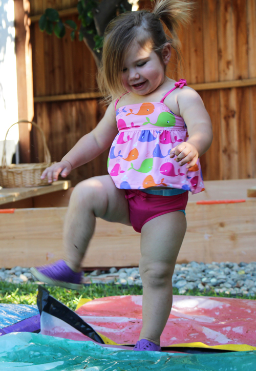 Duct tape Rainbow Waterbeds for kids - Awesome Water Play on a Hot Day
