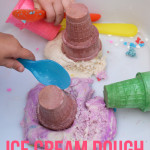 ice cream dough - invitation to play