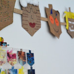 Hanukkah Wall Art from Your Child's Art Work
