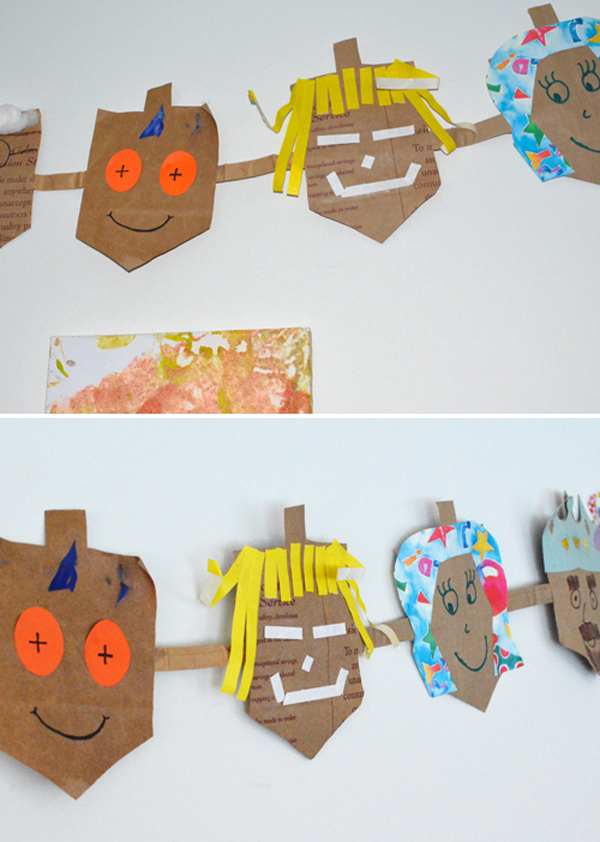 make a recycled hanukkah garland