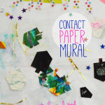 Contact paper holiday mural for toddlers