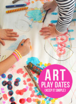 Hosting Art Play Dates for Kids – Lesson 1 – Keep It Simple