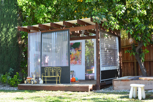 backyard art playhouse for kids