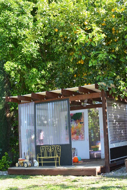 backyard art playhouse for kids
