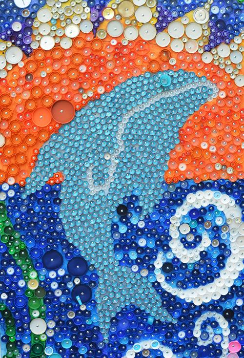 School Wide Bottle Cap Mural Project Meri Cherry