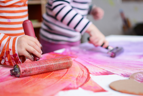 Pink Process Art - Reggio Inspired Play Dates