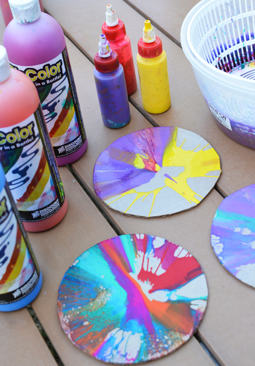 spin art sun catchers